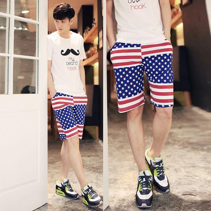 USA inspired short. #fashionableshorts #trendyshorts