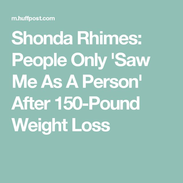 Shonda Rhimes: People Only 'Saw Me As A Person' After 150-Pound Weight Loss