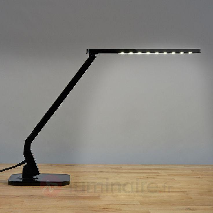 Lampe de bureau LED Eleni noire, référence 9950191 - Éclairage idéal pour le bureau - Lampe de bureau à commander en ligne - Livraison offerte dès 99€ d'achats chez Luminaire.fr !