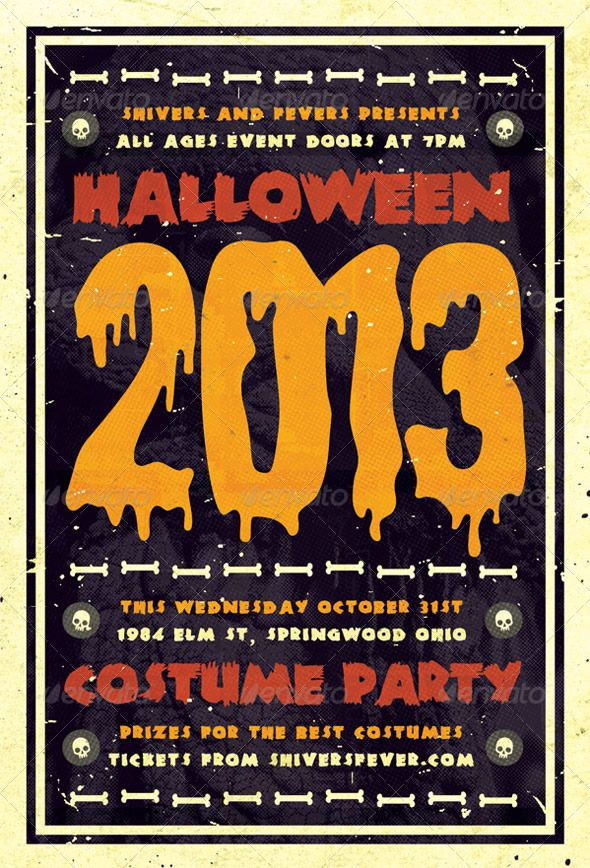 Spooky - Halloween Flyer Template | graphicriver | Pinterest
