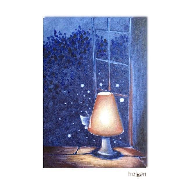 Вот такую милоту я написала маслом на он-лайн МК Надежды Ильиной) впечатления самые светлые и замечательные кстати, знаете, как называется в живописи мой любимый цвет? -ультрамарин! #Инзижен #Inzigen #картина #картинамаслом #холст #живопись #paint #painter #painting #художник #творчество #create #creator #art #арт #artist #хобби #hobby #ярисую #милота #cute #sweet #вечер #лампа #дача #окно #бабочка #волшебство #светлячки #ультрамарин