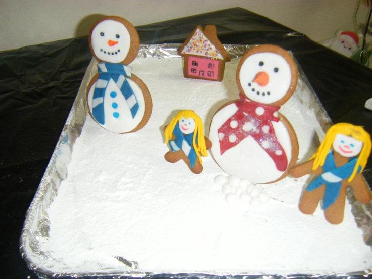Gingerbread snowmen #CPfestivecrafts