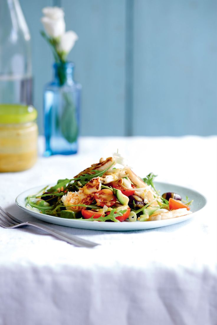 Halloumi salad recipe from Coconut Oil: Nature's Perfect Ingredient by Lucy Bee | Cooked.com