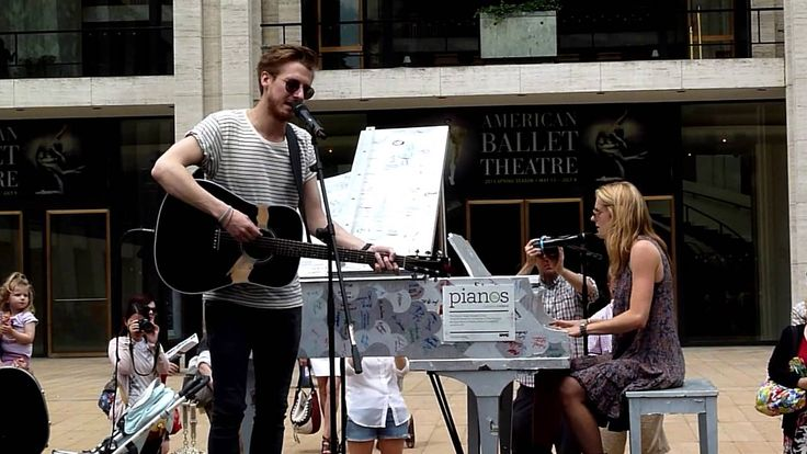 """Arthur Darvill, Joanna Christie performing """"Falling Slowly"""" :: Arthur just got 502% sexier. How is that even possible?"""