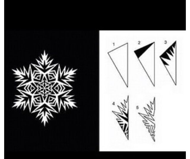 Cut out snow flake ❄
