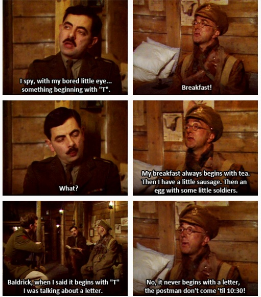 Something beginning with T. (Blackadder)