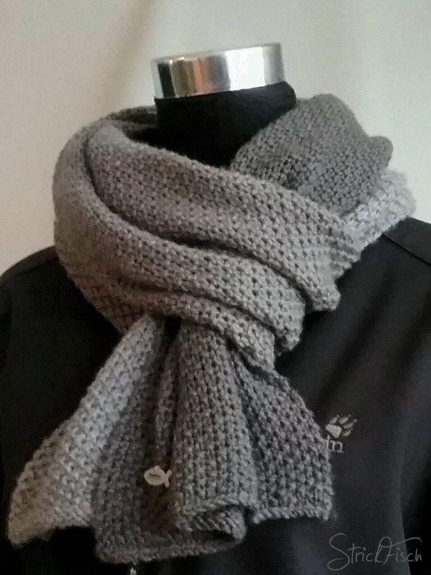 Einfacher Herren Schal Stricken Und Häkeln Knitting Knit