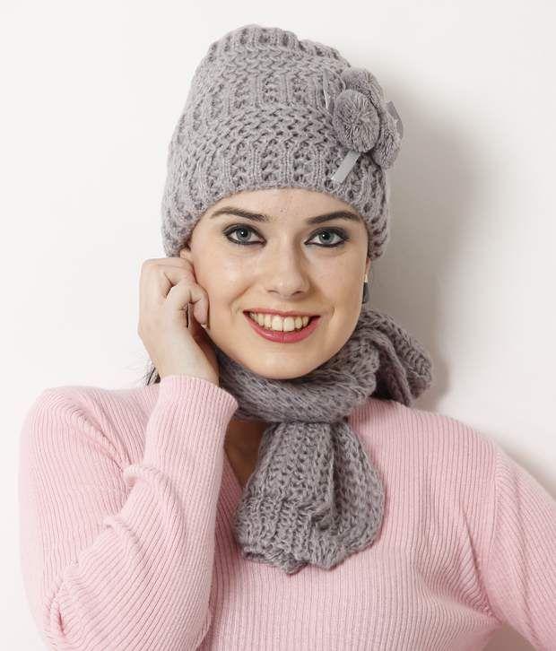 Bizarro Fashionable Grey Muffler Cap