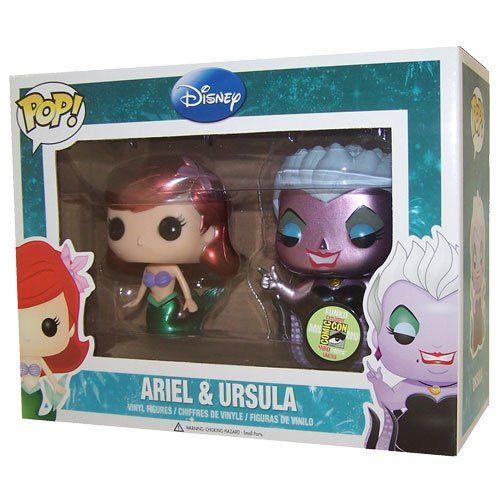Funko POP! Disney 2013 SDCC San Diego Comic-Con Exclusive Vinyl Figure Set Ariel & Ursula.