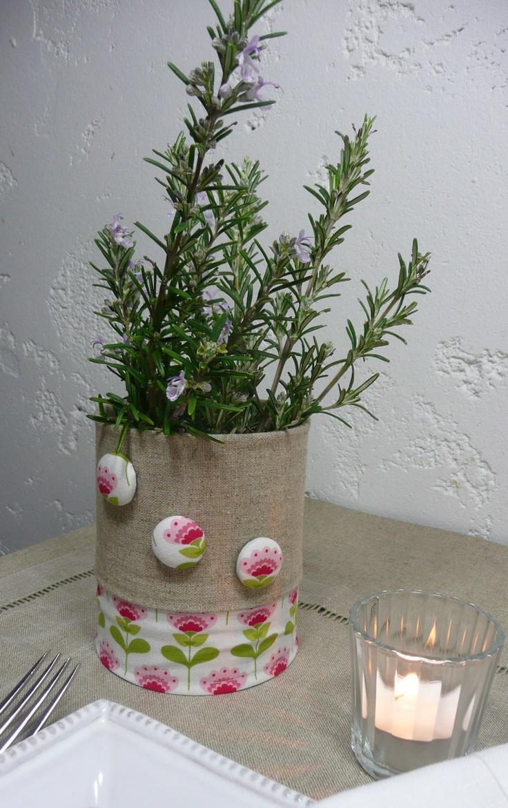 Transformez une simple boîte de conserve, en un vase très déco...