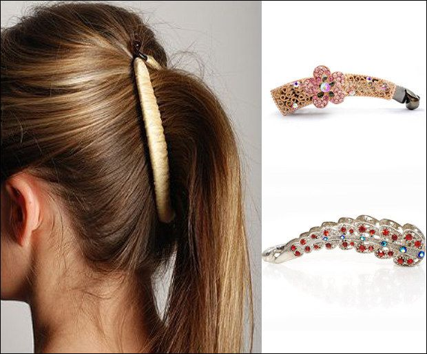 This banana clip that gave you a top-notch ponytail in seconds. | 15 Hair Accessories Every '90s Kid Will Remember
