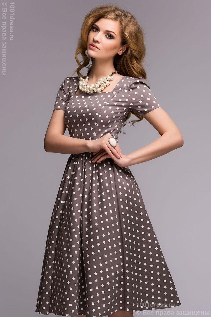 Купить платье в горошек в ретро стиле в интернет