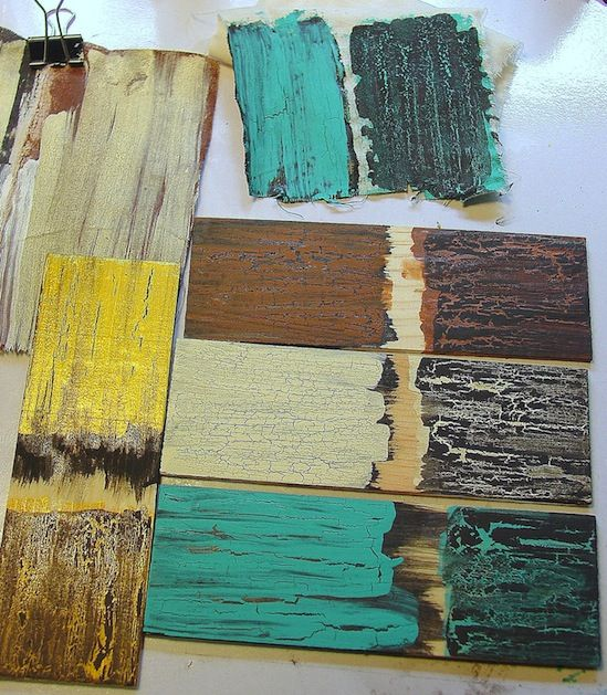 How-To: CRACKLE PAINT FINISH WITH ELMER'S GLUE... Did you know that you can create a weathered crackle finish on wood and fabric with just paint and Elmer's glue? Check out this crackle paint finish tutorial from Ann at Make the Best of Things to see how it's done!