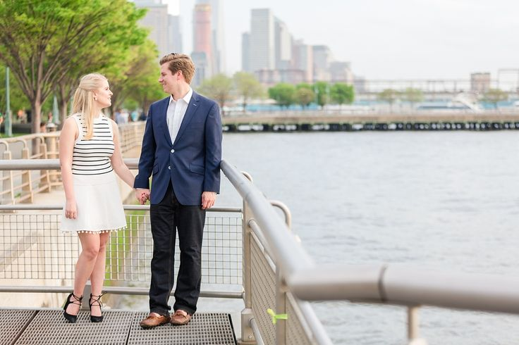 West Village Engagement Session Photos on the Hudson River by Jessica Haley Photographer | Spring in New York City | Couples Photography Pose | Engagement Picture Poses