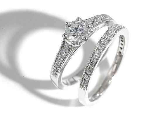Wedding and engagement ring this is simple but beautiful and if i he gets  me something42 best Engagement   Wedding Rings  images on Pinterest   Rings  . Engagement Ring Vs Wedding Ring. Home Design Ideas