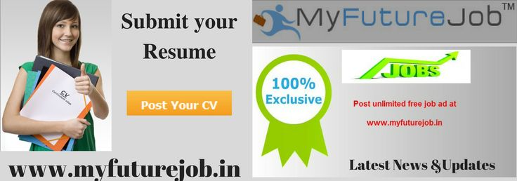 Find jobs to build better career, my future jobs are the leading recruiters in India that provide job vacancies for fresher's and experience and place to work for all sectors. Post your resume now for better career. For more details, visit us at www.myfuturejob.in
