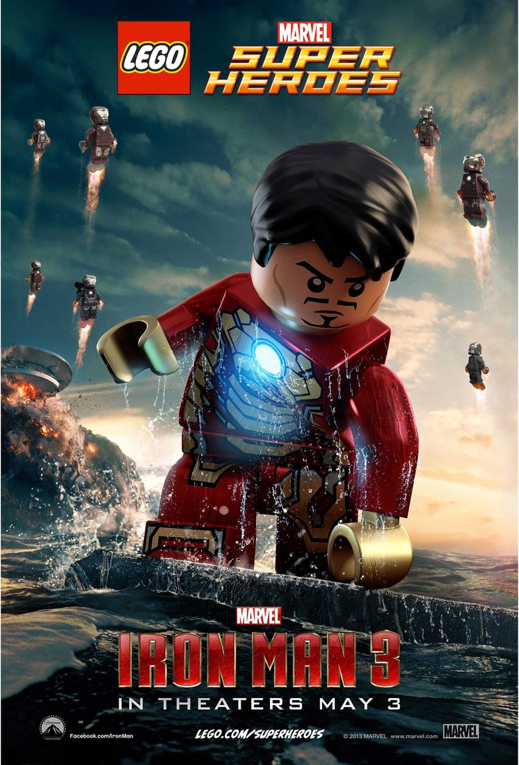 Two Epic Lego Super Heroes Posters for Iron Man 3 on http://www.shockya.com/news