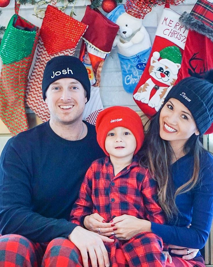 Getting a little EXTRA this holiday season with our embroidered beanies and coordinating pjs from @oldnavy. Dont forget to check out our family pictures on the blog plus theres another giveaway for that special guy in your life. @liketoknow.it #liketkit http://liketk.it/2tRuT #oldnavystyle #holiyay #ad #ltkfamily #ltkholidaystyle #holidaystyle #christmasdecor #buffaloplaid