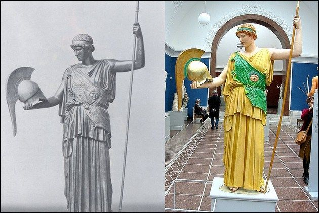 the original colors of ancient Greek and Roman sculptures: Athena Lemnia