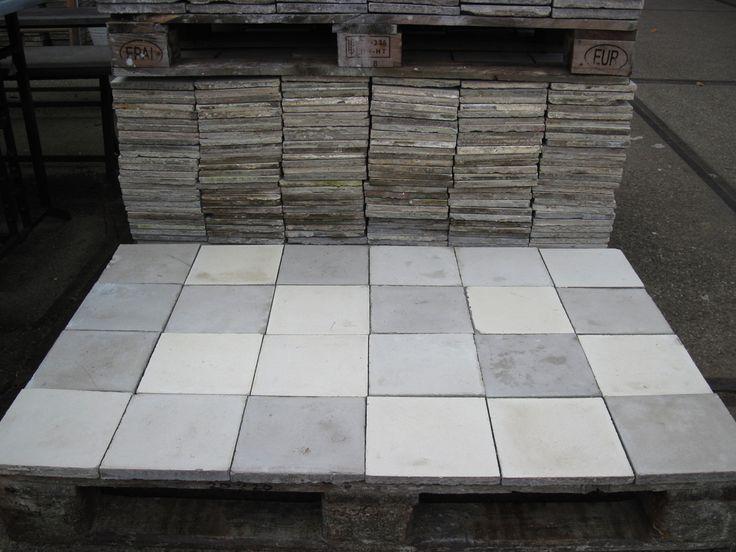 franse cementtegels geschikt voor keuken, hal, badkamer of woonkamer    oude bouwmaterialen bij jan van ijken eemnes    www.oudebouwmaterialen.nl
