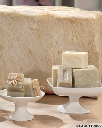 Make your own Savon de Marseille soap. Go to MarthaStewart.com for complete directions. Great for the home and for gifts! Huge savings off buying retail.