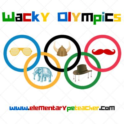 """Wacky Olympics are individualized competitions that are meant to be fun and exciting!  If a student wins a competition, they are awarded a """"wacky"""" trophy!  Check out my blog post for more details."""