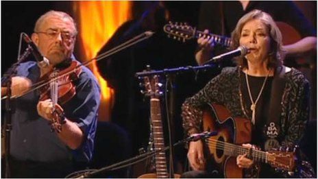 BBC News - Celtic Connections at 20. Aly Bain plus Nanci Griffith