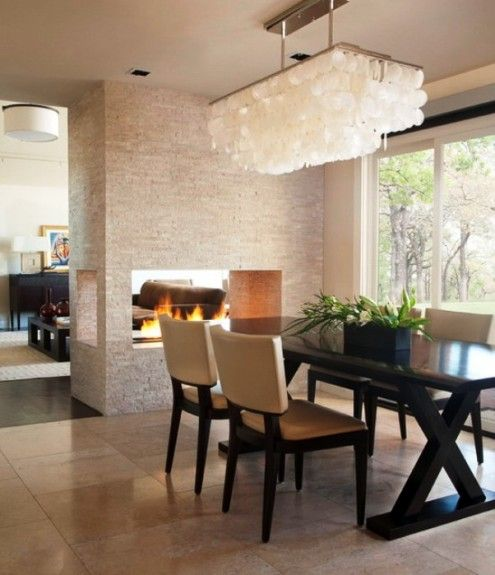 Fair White Shell Chandelier Decor Ideas In Dining Room Contemporary Design With CEILING LIGHT Dark Stained Wood Area