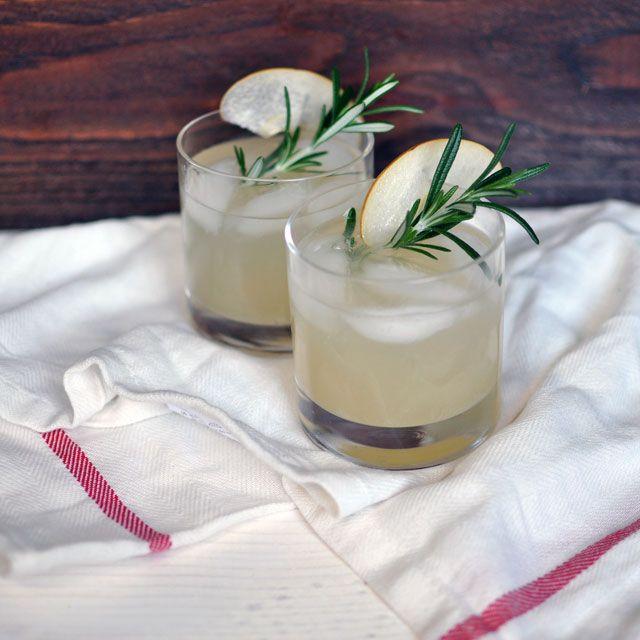 Asian Pear and Rosemary Sparklers