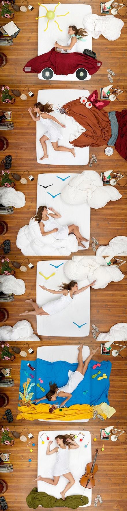 Das Leben braucht  Kreativität,  sogar ein Bett kann viel Spaß machen.