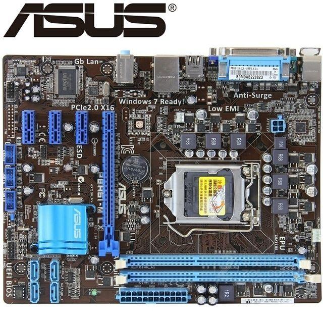 Asus P8H61-M LX Desktop Motherboard H61 Socket LGA 1155 i3 i5 i7 DDR3 16G UEFI BIOS uATX Used Original Mainboard On Sale now at http://ift.tt/2nsEcyF
