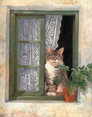 Painting by Lesley Anne Ivory