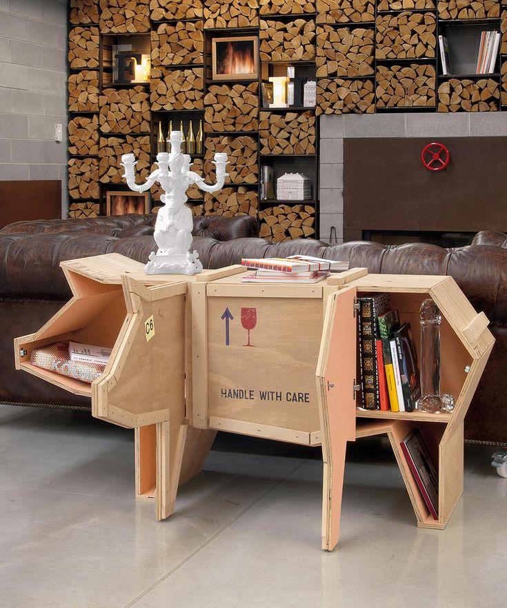 Sending Animals Wooden Furniture, Pig By Italian Designer Marcantonio  Raimondi Malerba Who Believes U201cirony