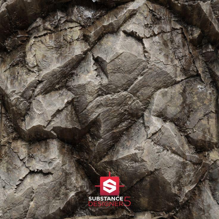 iRay Renders - Substance Mossy Rock., Pierre FLEAU on ArtStation at https://www.artstation.com/artwork/kw64n