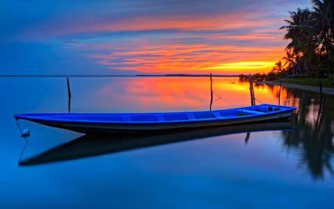 Csónak háttérkép, fotó
