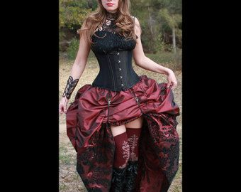 Ready to ship Steampunk Victorian Corset with by MajesticVelvets