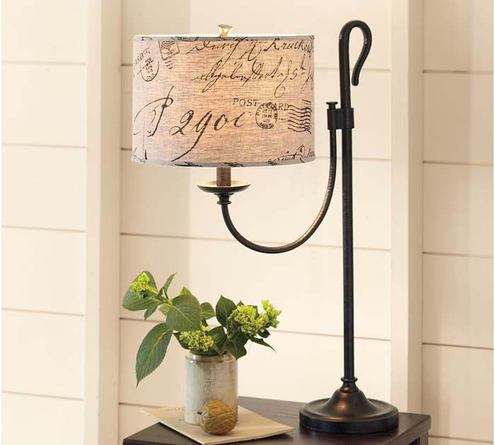 Another delightful table lamp.  Again the possibilities are almost endless; in a library or office, a living/family room or...