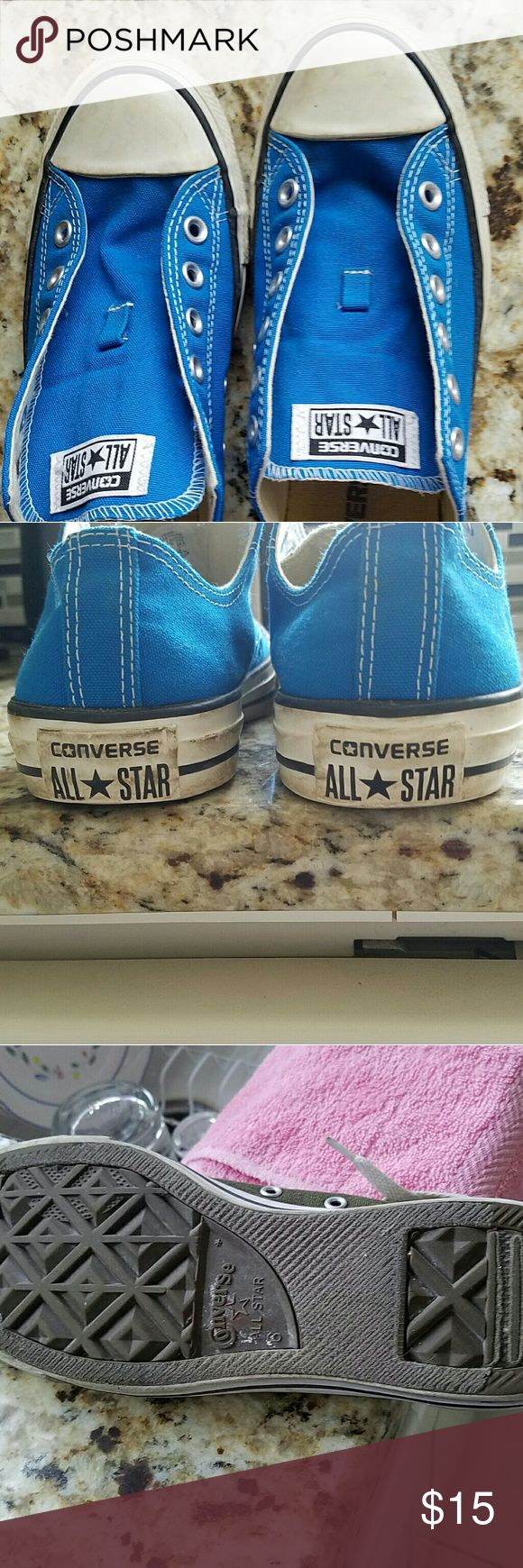 Converse Women 8/Men 6 Royal blue, worn with life left to them! Converse Shoes Sneakers