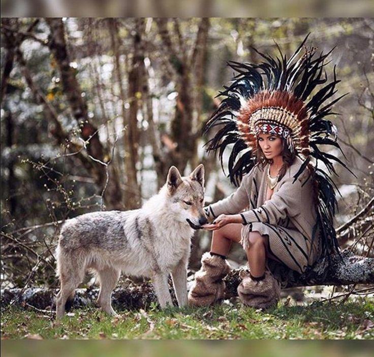 фото индейца с волком на рабочий стол знакомые, парад вмф