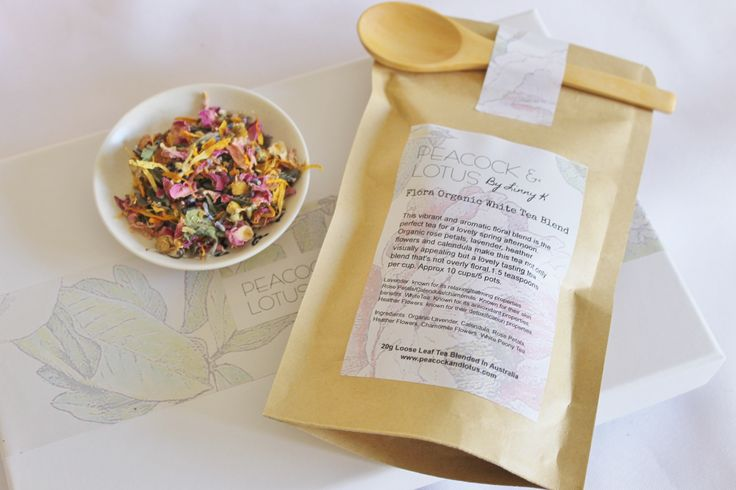 Flora Organic White Tea Blend 20g pack20g of tea enough for roughly 10 cups of tea/5 pots80g of tea enough for roughly 40+cups of tea/20+ potsComes with wooden spoonThis vibrant and aromatic floral blend is the perfect tea for a lovely spring afternoon. Organic rose petals, lavender, Heather flowers, chamomile and calendula make this tea not only visually appealing but a lovely tasting tea. White Peony tea brings this beautiful blend together.Approx 1.5 teaspoons per cup.Why not sip on…
