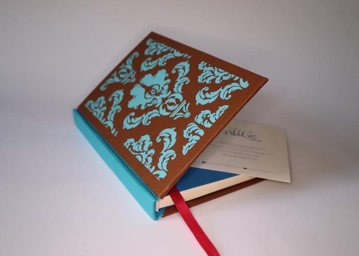 Damasco, libreta hecha a mano, con motivos ornamentales, 100 hojas recicladas