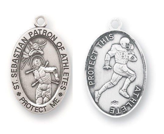 St. Sebastian Sterling Football Medal