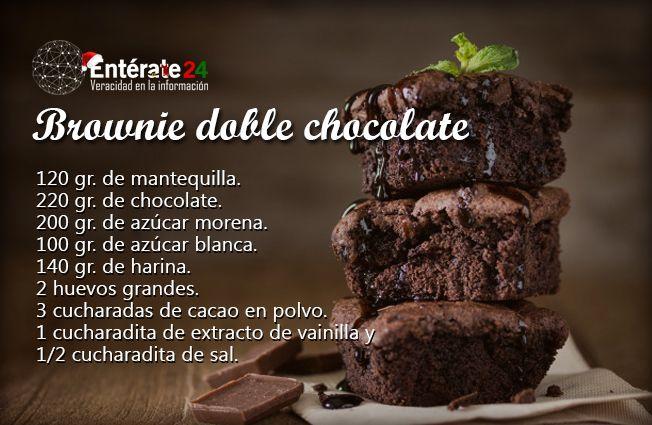 Si El Brownie Es Sabroso Te Lo Imaginas Con Doble Chocolate Sabroso Chocolate Recetas De Comida