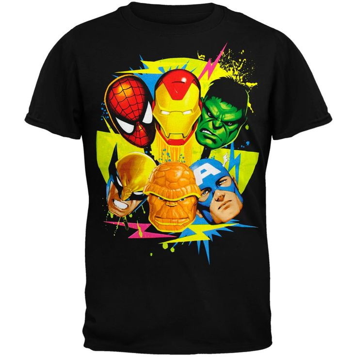 Marvel Heroes - Da Six Colors Youth T-Shirt