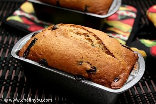 Eggless Banana and Blueberry Bread Recipe | Healthy and Easy Quick Bread | Chef In You