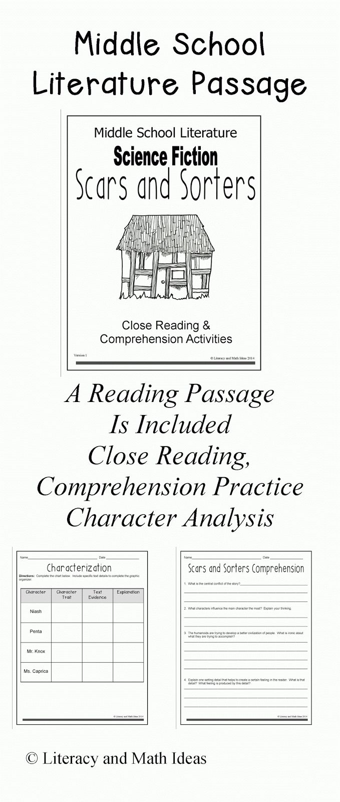 Worksheet Short Stories For Reading Comprehension 1000 ideas about science fiction short stories on pinterest english classroom middle school and books