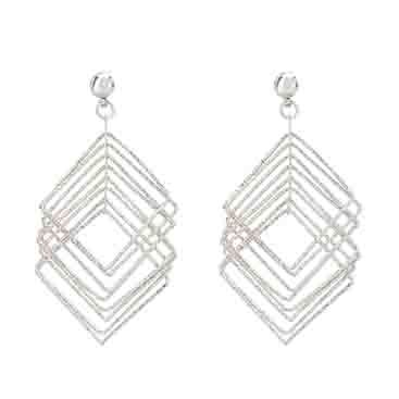 Amazing Stylish ... #FashionJewelry Collection ! Geometrical Silver Color Dangle ! Latest #Bollywood #Fashion Collection ! #Celebrity #style ! #Page3 #Love the #earrings ! awesome #pic look on #instagram #Snapchat