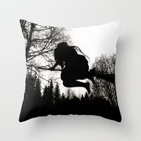 Throw Pillows featuring Häxsabbat by Old Hag
