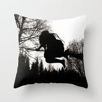 Throw Pillows featuring Häxsabbat by Old Hag