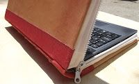 Creative laptop case made of leather